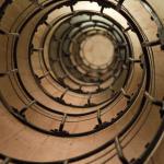 Escaleras de caracol en el Arco del Triunfo